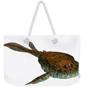Bothriolepis Fish On White Weekender Tote Bag