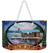 Bottle Bay Yacht Club Weekender Tote Bag