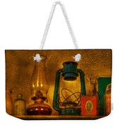 Bottles And Lamps Weekender Tote Bag by Evelina Kremsdorf