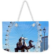 Boudica Riding The Millennium Wheel Weekender Tote Bag