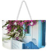 Bougainvillea In Santorini Island Weekender Tote Bag