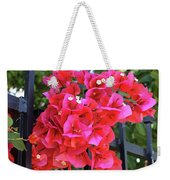 Bougainvillea On Southern Fence Weekender Tote Bag