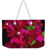 Bougainvillea / Textured  Weekender Tote Bag