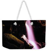 Boulder Cave Falls From The Side  Weekender Tote Bag
