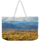 Boulder Colorado Autumn Scenic View Weekender Tote Bag