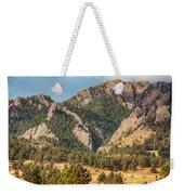 Boulder Colorado Rocky Mountain Foothills Weekender Tote Bag