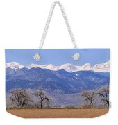 Boulder County Colorado Panorama Weekender Tote Bag