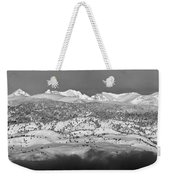Boulder County Continental Divide Panorama Bw Weekender Tote Bag