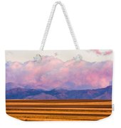 Boulder County Farm Fields At First Light Sunrise Weekender Tote Bag