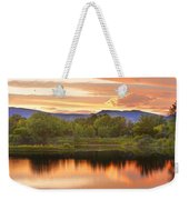Boulder County Lake Sunset Landscape 06.26.2010 Weekender Tote Bag