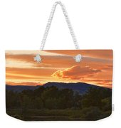 Boulder County Lake Sunset Vertical Image 06.26.2010 Weekender Tote Bag by James BO  Insogna