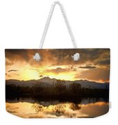 Boulder County Sunset Reflection Weekender Tote Bag
