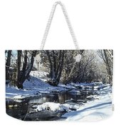 Boulder Creek After A Snowstorm Weekender Tote Bag