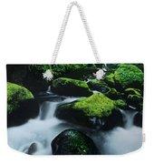 Boulder Elowah Falls Columbia River Gorge Nsa Oregon Weekender Tote Bag