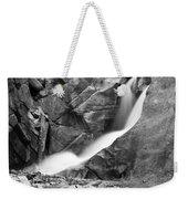 Boulder Falls Black And White   Weekender Tote Bag