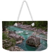 Boulder In The River - Slovenia Weekender Tote Bag