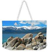 Boulder Shore Lake Tahoe Weekender Tote Bag