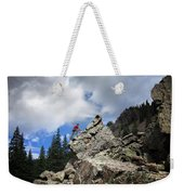 Bouldering On The Flint Creek Trail - Weminuche Wilderness Weekender Tote Bag