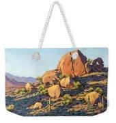 Boulders By Pinnacle Peak Mountain Weekender Tote Bag