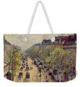 Boulevard Montmartre Weekender Tote Bag by Camille Pissarro