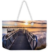 Bountiful Lake Pier Weekender Tote Bag