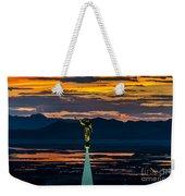 Bountiful Sunset - Moroni Statue - Utah Weekender Tote Bag