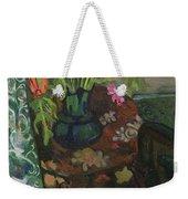 Bouquet And A Cat Weekender Tote Bag