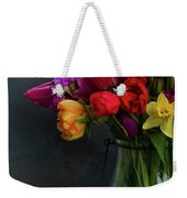 Spring Flowers In Vase Weekender Tote Bag