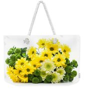 Bouquet Of Fresh Spring Flowers Isolated On White Weekender Tote Bag