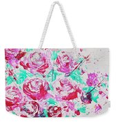Bouquet Of Pink Roses Weekender Tote Bag