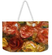 Bouquet Of Roses In A Vase 1900 Weekender Tote Bag