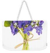 Bouquet Of Violets Weekender Tote Bag