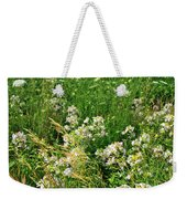 Bouquet Of Wildflowers Along Country Road In Mchenry County Weekender Tote Bag
