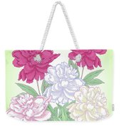 Bouquet With White And Pink Peonies.spring Weekender Tote Bag