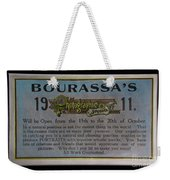 Bourassa's Photographic Studio Weekender Tote Bag