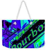 Bourbon Street In Blue Weekender Tote Bag