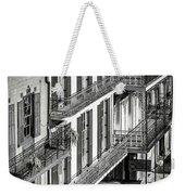 Bourbon Street Morning-bw-nola Weekender Tote Bag