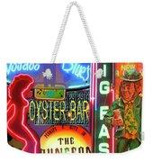 Bourbon Street Neon Weekender Tote Bag