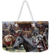 Bouvier Des Flandres - Flandres Cattle Dog Art Canvas Print - Knights Tournir Weekender Tote Bag