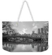 bow bridge central park N Y C Weekender Tote Bag
