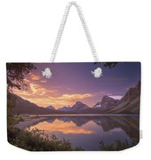 Bow Lake At Dawn Weekender Tote Bag