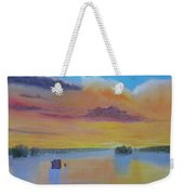Bow Lake Ice Fishing Weekender Tote Bag