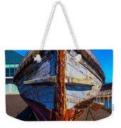 Bow Of Old Worn Boat Weekender Tote Bag