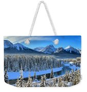 Bow River Valley View Weekender Tote Bag