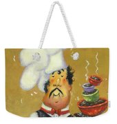 Bow Tie Chef Four Bowl Weekender Tote Bag