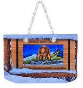 Bow Valley Parkway Snowy Entrance Weekender Tote Bag