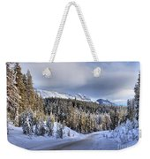 Bow Valley Parkway Winter Scenic Weekender Tote Bag