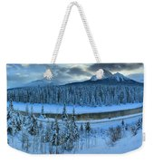 Bow Valley River Giant Panorama Weekender Tote Bag