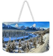 Bow Valley Winter View Weekender Tote Bag