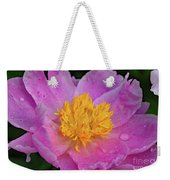 Bowl Of Beauty Peony Catching The Rain Weekender Tote Bag
